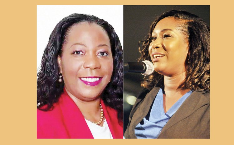 Left to right: Dr. King and Monelle Williams Jno Baptiste