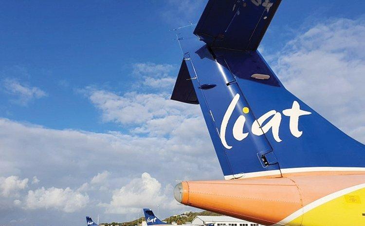 A LIAT aircraft at a Caribbean airport