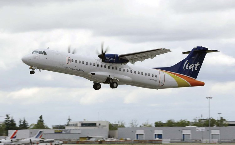 A LIAT aircraft in flight