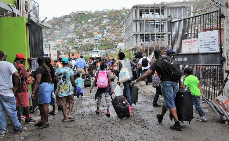 Dominicans leaving after Hurricane Maria via Woodbridge Bay port