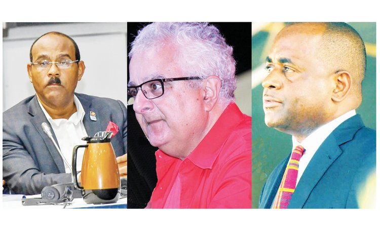 Covid and the economy: Left to right- Gaston Browne, Tony Astaphan and Roosevelt Skerrit