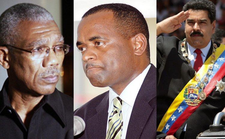 Left to right: President Granger, Prime Minister Skerrit and President Maduro