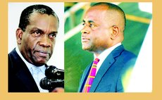 Left to right: Lennox Linton and Roosevelt Skerrit