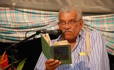 Derek Walcott reads poetry at the 2008  Nature Island Literary Festival and Book Fair