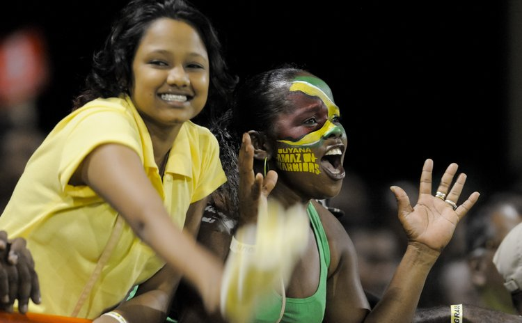 Cricket fans at Amazon Warriors vs Zouks game