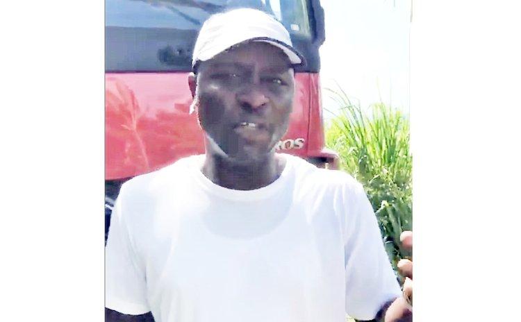 Man at Wesley truck demonstration