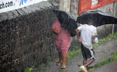 In the rain today on Independence Street Roseau