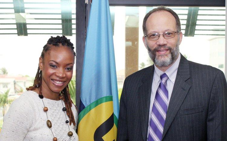 Michele Henderson meets CARICOM Seretary General LaRocque on Friday 13 June, 2014