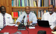 FILE PHOTO: Ministry of Health officials at a  Chikungunya press conference