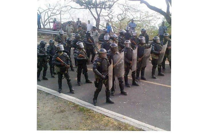 Police prepare for riot in Salisbury protest