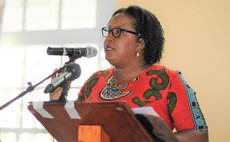 Kimone Joseph, Head, UWI Open Campus speaks at the DAT conference