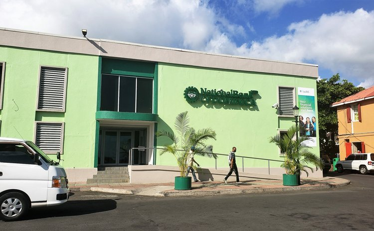New National Bank of Dominica branch on the Roseau Bayfront