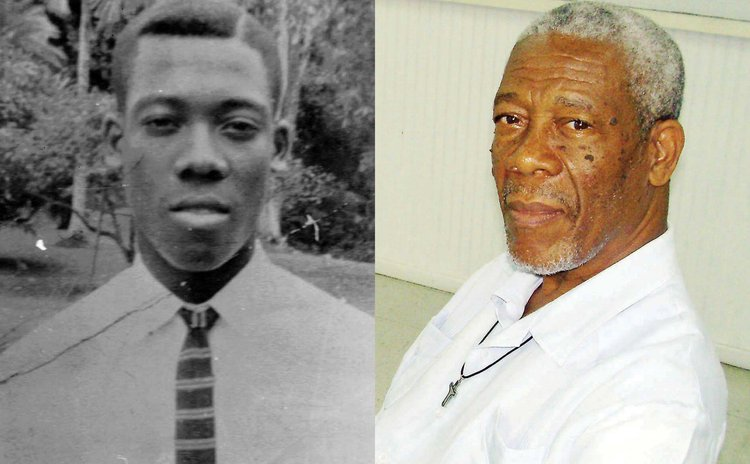 Norris Prevost at SMA, left, and today