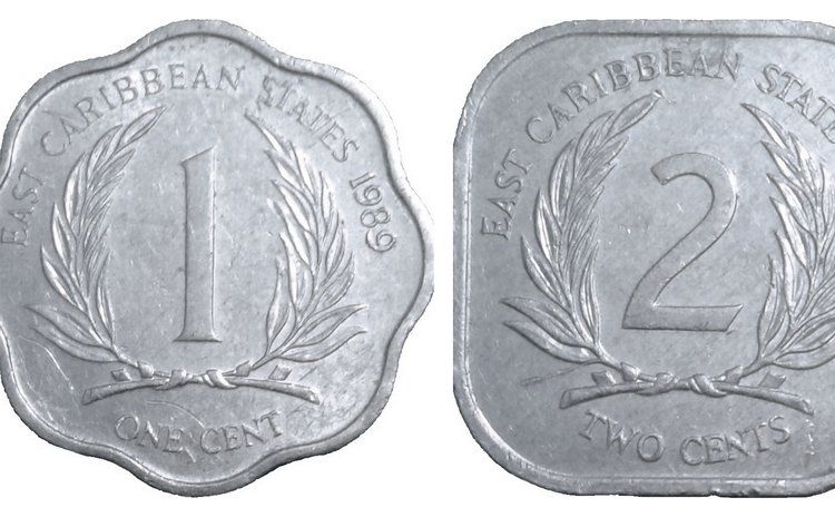 EC 1 and 2 cents coins