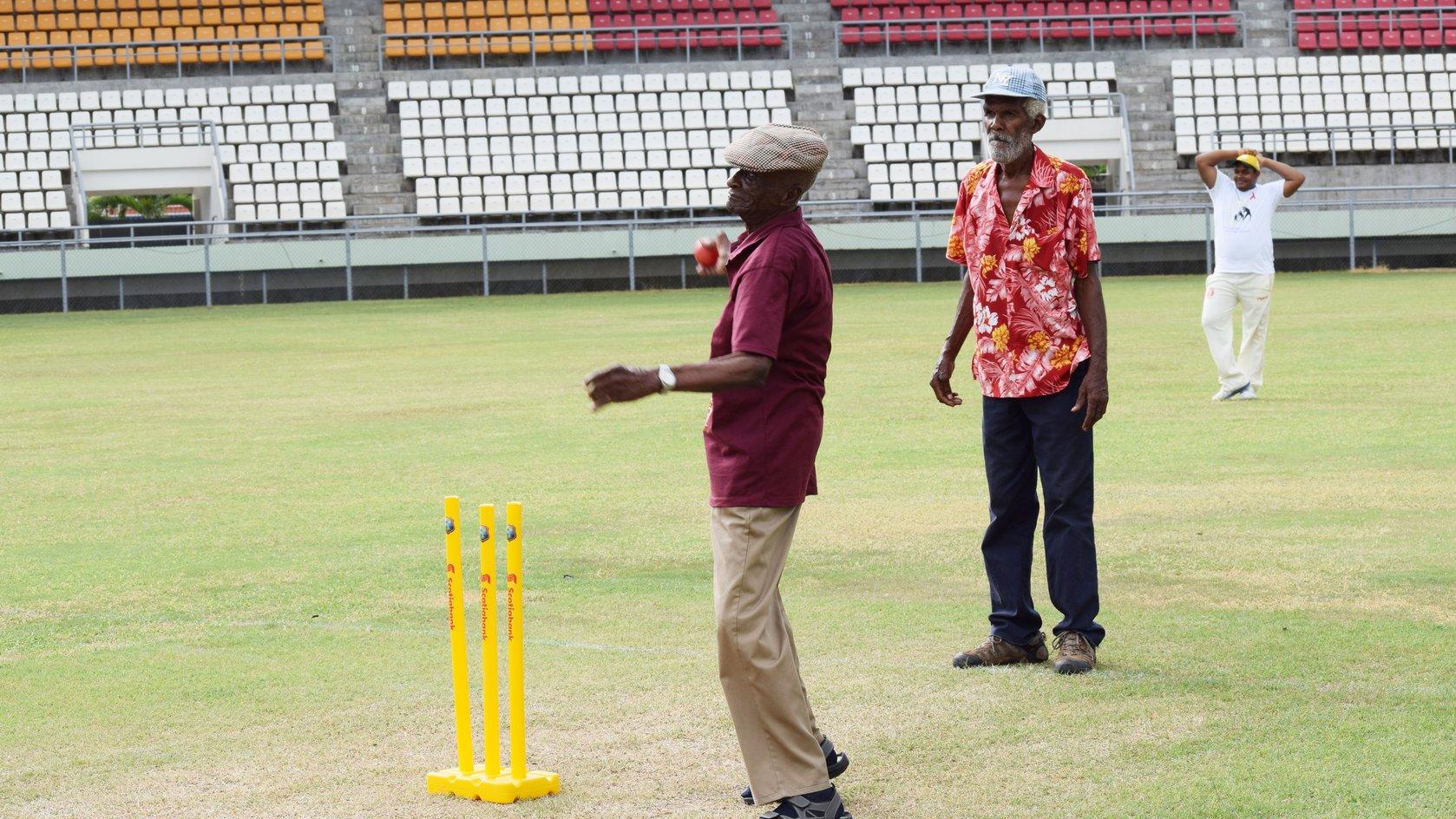Centenarian Popeye bowls first ball in cricket match