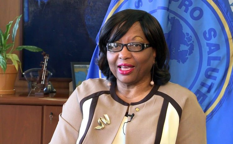 Dominica-born Director of PAHO Dr. Carissa Etienne