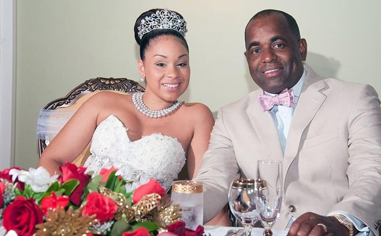 Prime Minister Skerrit and wife Melissa after wedding