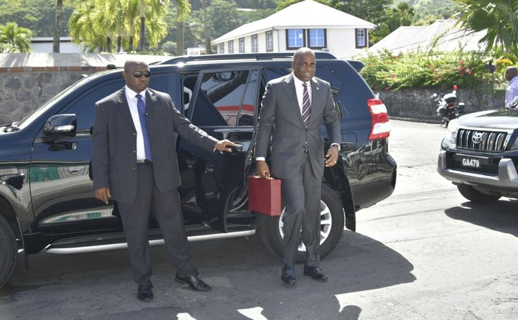 Prime Minister Skerrit goes to parliament to present 2017/ 2018 budget