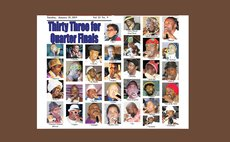 Front Page of the Sun showing 33 Calypsonians for the Quarter Finals 2019
