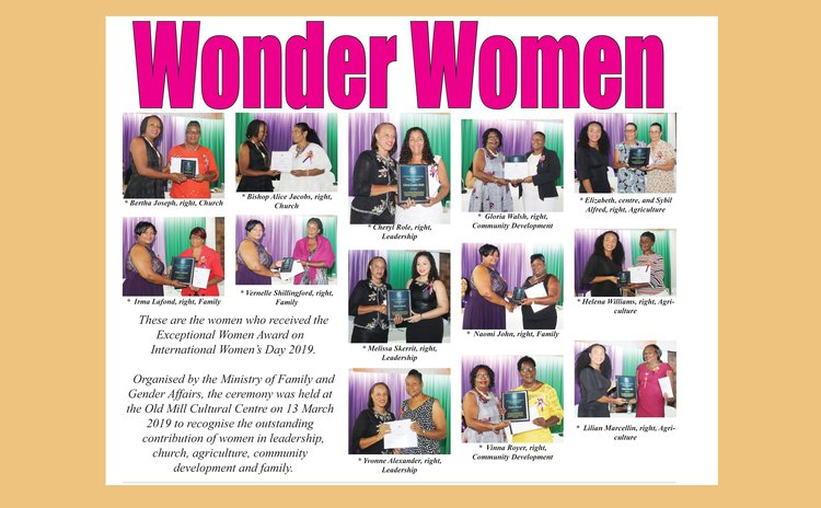 Page 20 of the Sun Newspaper showing award-winning women