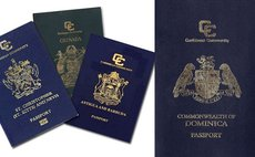 Four passports of four Caribbean countries