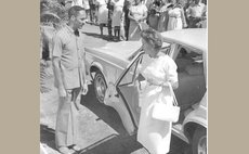 Princess Margaret, the Queen's representative arrives at the Independence ceremony