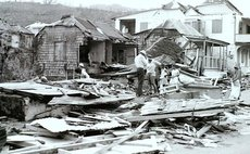 House on Queen Mary Street in Roseau after Hurricane David on August 29, 1979-Herry Royer photo