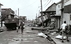 Great George Street in Roseaudominica after Hurricane David August 29,1979- Herry Royer photo