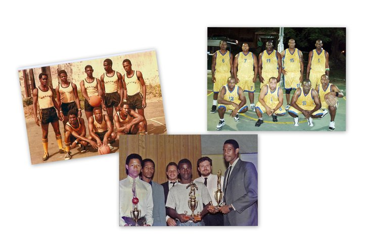 Police Basketball teams (See story for caption details)