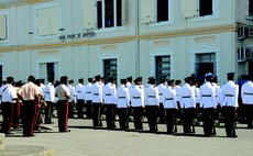 Policeofficers attend opening of the 2014 Law Year