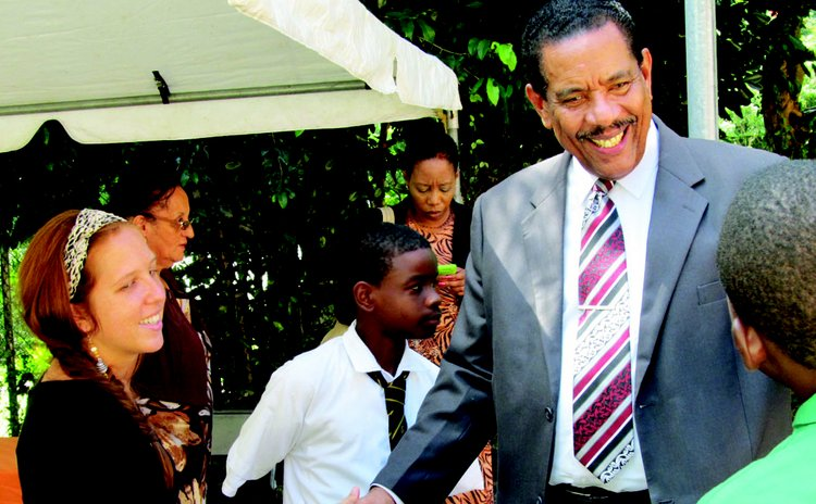 President Savarin  meets students at Operation Youth Quake