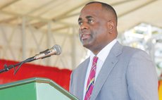 Prime minister Roosevelt skerrit gives one of his Independence Addresses
