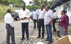 Prime Minister Skerrit and delegation visit DCP after TS Erika