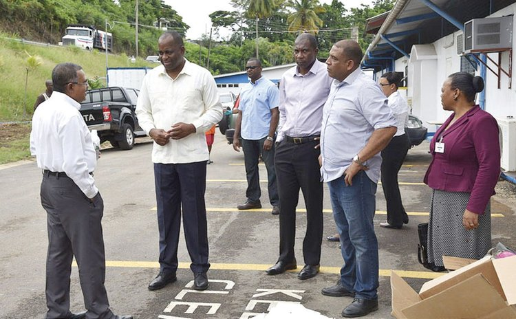 Prime Minister Skerrit and delegation visit DCP after TS Erika