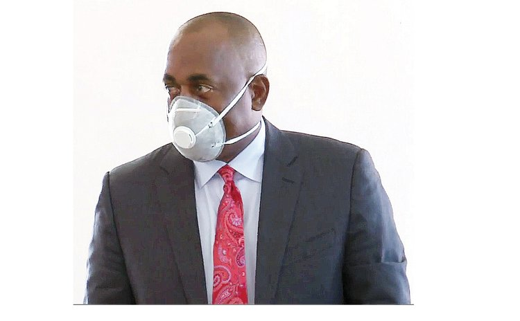 PM Skerrit wears mask in House of Assembly