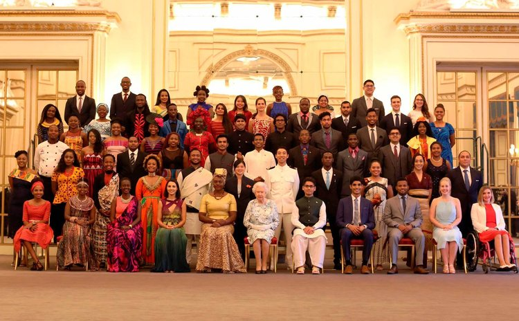 The Queen's Young Leaders of 2017 with HM The Queen