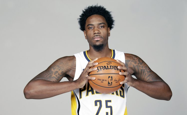 RAKEEM CHRISTMAS while a member of NBA's Indiana Pacers