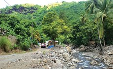 Coulibistrie River after Erika