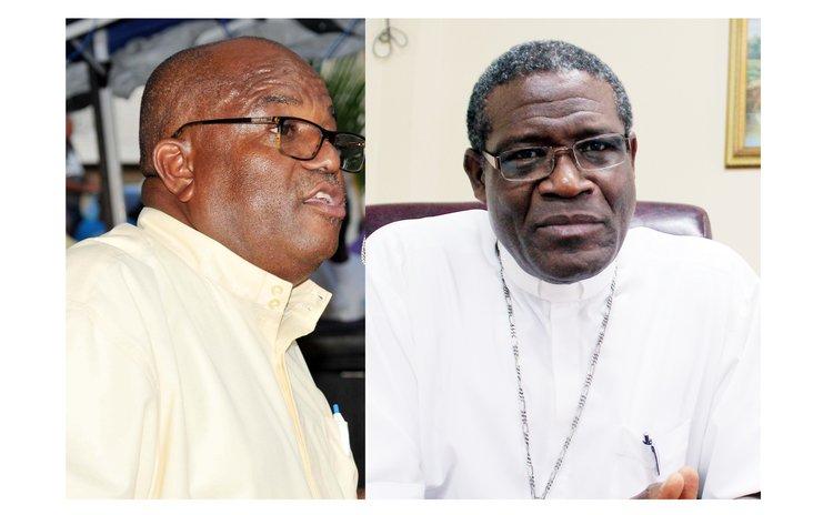 Representatives of religious denominations - Pastor Randy Rodney,left and Bishop Gabriel Malzaire