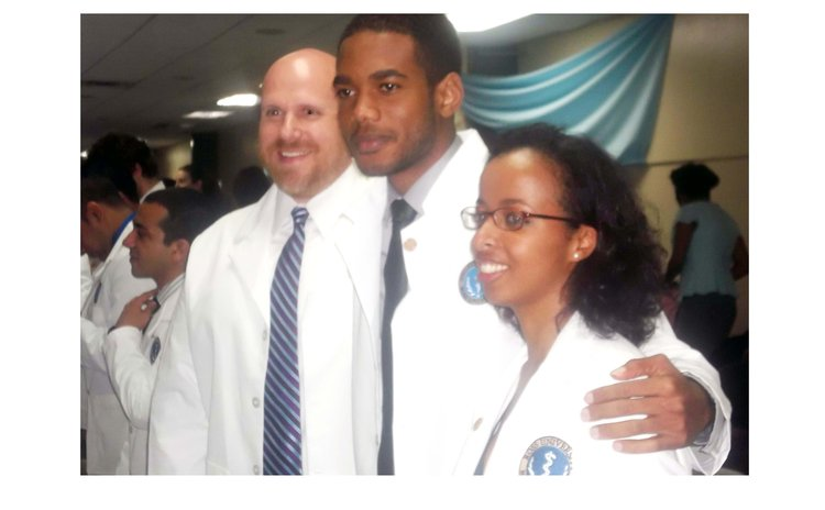 Ross students at White Coat ceremony