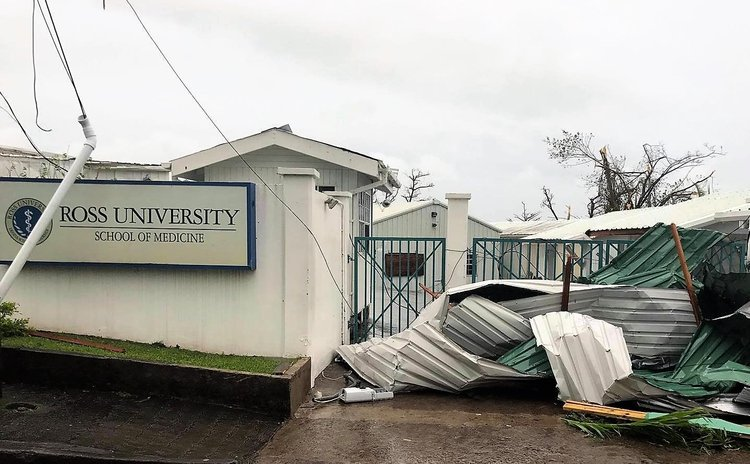 Ross University in Portsmouth Dominica after Hurricane Maria