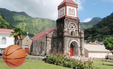 Iconic 18th Century Soufriere Roman Catholic Church, built from volcanic stone