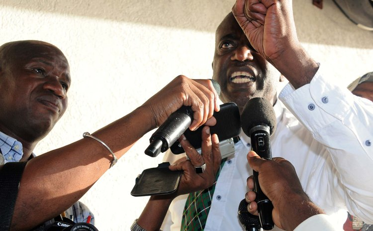 FILE PHOTO: Dr. Sam Christian speaks to reporters in 2017
