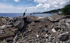 Material dumped on sea shore at Loubiere
