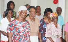 Senior citizens at an earlier function