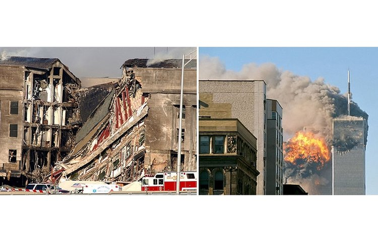 Two photos on 9/11 attacks