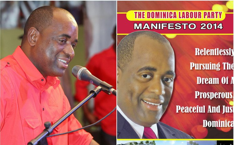 Skerrit,left, and cover of manifesto