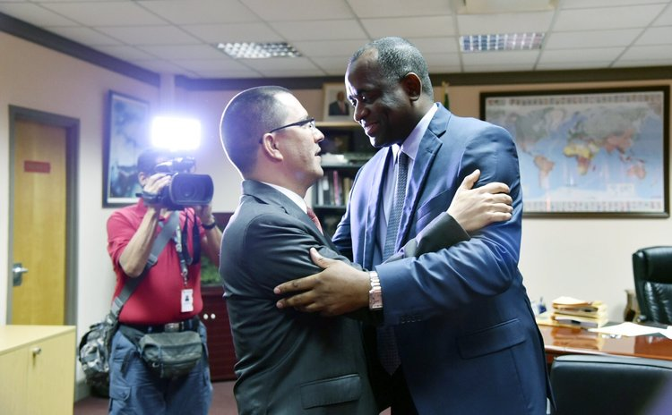 Skerrit meets Venezeulan Vice President
