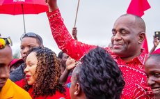 Crowd greets PM Skerrit at DLP rally