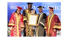 Prime Minister Skerrit, 2nd from left gets an honorary degree